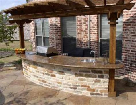 backyard grill and bar outdoor grill bar area with concrete counter top