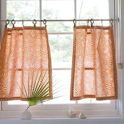 How To Make Cafe Curtains For Kitchen How To Make Cafe Curtains