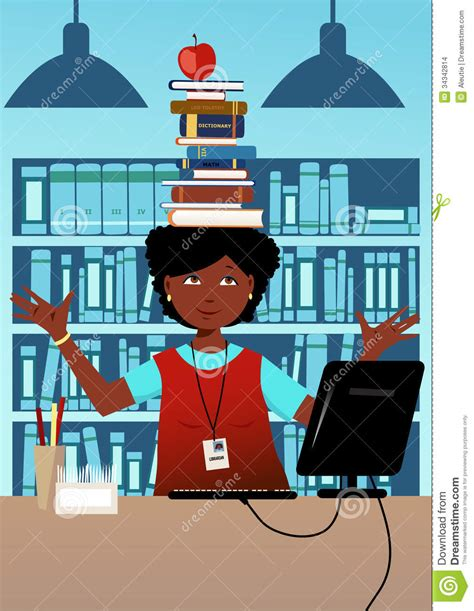 librarian with books on her head stock images image