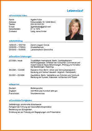 Bewerbung Foto Format 12 Lebenslauf Schreiben Reimbursement Format