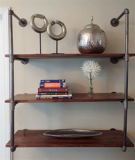 industrial wall shelving industrial pipe shelving unit wall mounted
