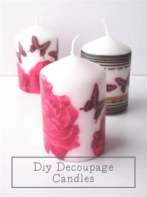 Decoupage Candles - 20 of the best decoupage craft projects window