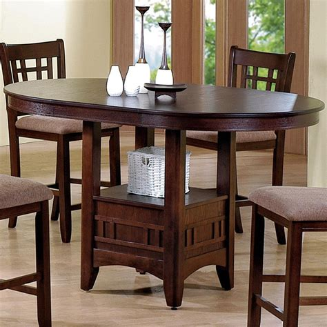 Pub Dining Table Chairs Crown Empire Counter Height Dining Table With Pedestal Base Dunk Bright Furniture Pub