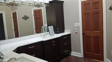 l shaped master vanity transitional bathroom chicago