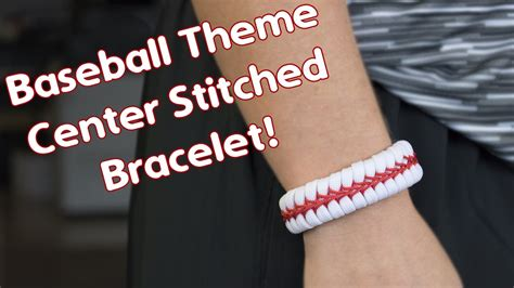 how to make a baseball themed center stitched paracord