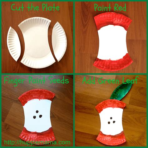 Paper Plate Food Crafts - paper plate apple craft carrie