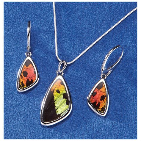 how to make butterfly wing jewelry butterfly wing earrings 230774 jewelry at sportsman s guide