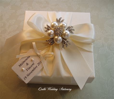 Wedding Gift Box luxury gift box pearl and diamante gift box wedding gift
