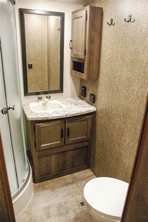 travel trailer bathroom 2017 spree s333rik luxury lightweight travel trailer k z rv
