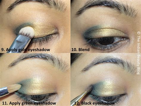 Eyeshadow Gold Tutorial green gold smokey eye makeup tutorial style by