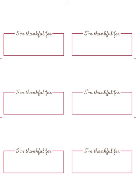 Free Thanksgiving Place Card Printables Roseville Designs Place Cards Template