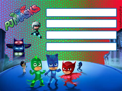 pj masks birthday card template pjmasks free printable kit oh my in