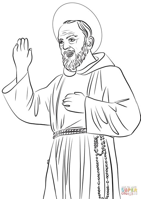 st coloring pages st padre pio coloring page free printable coloring pages