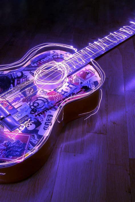 wallpaper iphone 5 guitar lighted guitar 3d desktop hd wallpaper free