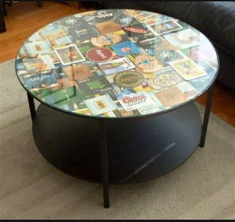 Decoupage Glass Table Top - 15 unique decoupage furniture projects coasters