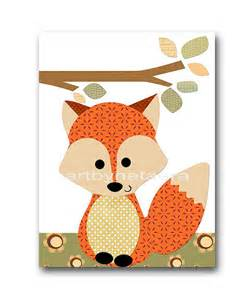 Fox Nursery Decor Fox Nursery Print Baby Nursery Decor Baby Boy Nursery