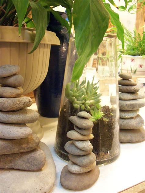 diy zen stone stacks