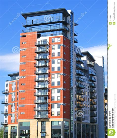 appartments uk modern apartment block royalty free stock photos image