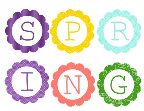 Printable Letters Spring | free printable spring banner bunting