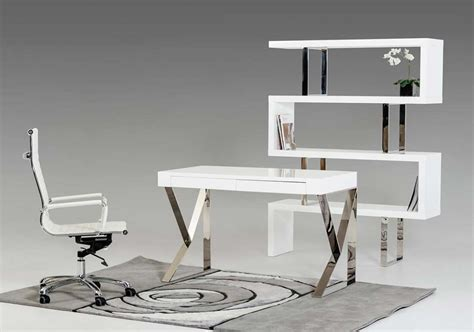 Contemporary White Lacquer Desk Vg153 Desks Modern White Desks