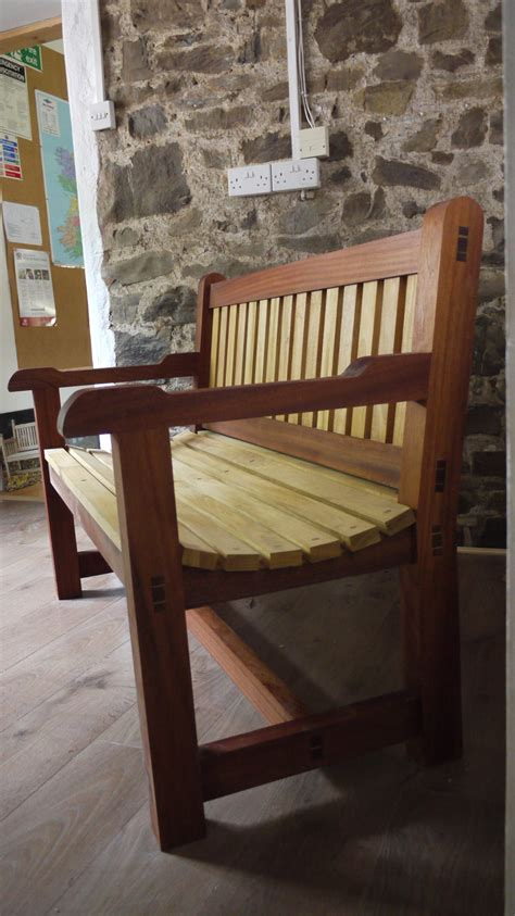 hardwood garden bench sapele the wooden workshop oakford devon dual colour bench the wooden workshop oakford devon