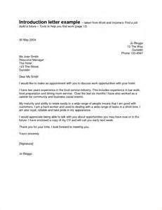 Letter Of Introduction Template For Employment 5 Letter Of Introduction For A Job Memo Formats