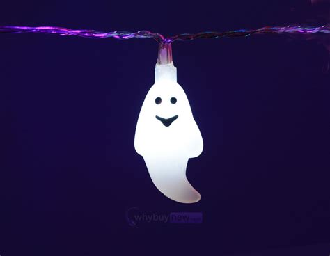 halloween ghost string lights qtx led halloween string lights 10 x white ghosts