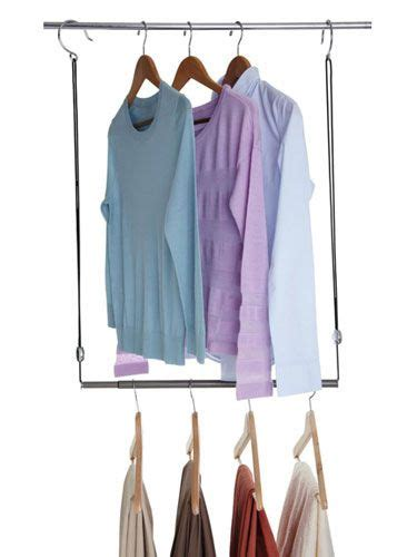 Closet Rod Extender Hanging by Your Closet Clutter Problems Solved