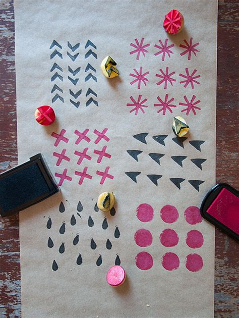 Make Your Own Gift Wrapping Paper - escape diy gift wrap get together design sponge