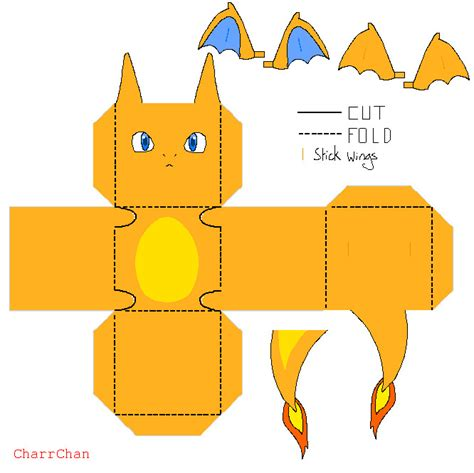 Papercraft Charizard - free printable paper crafts