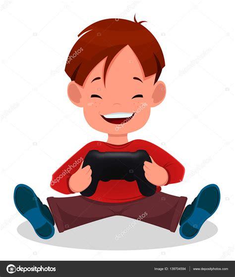 imagenes de niños jugando videojuegos animados ni 241 o alegre jugando videojuegos ni 241 o de dibujos animados