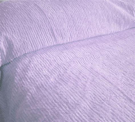 Purple Chenille Bedspread Solid Light Purple Lavender Ribbed Cotton Chenille