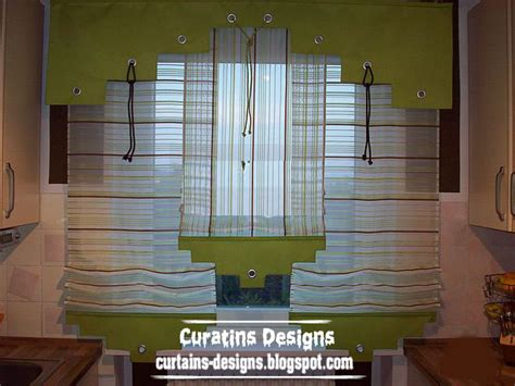 unique kitchen curtain valance design for modern kitchen