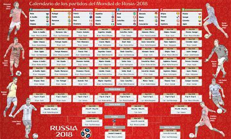Calendario A Rusia 2018 Calendario De Los Partidos Mundial De Rusia 2018