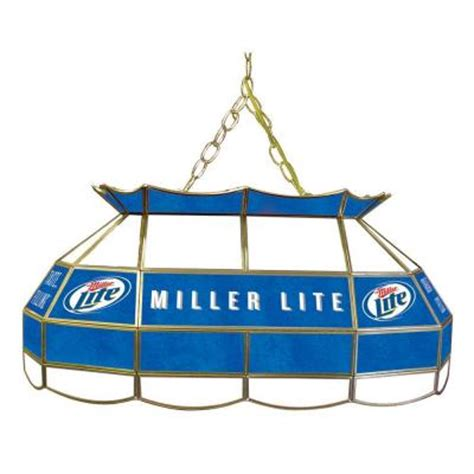 miller lite pool table light trademark global miller lite 28 in gold pool table light