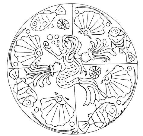 mermaid mandala coloring pages mandala domandalas mermaid mandalas coloring pages for