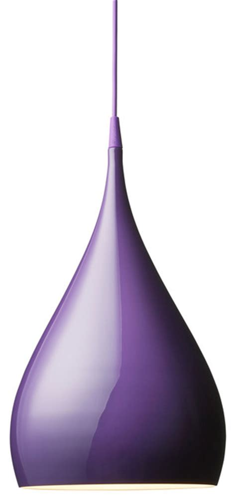 Purple Pendant Light Bh1 Spinning Pendant L Purple Modern Pendant Lighting By Design