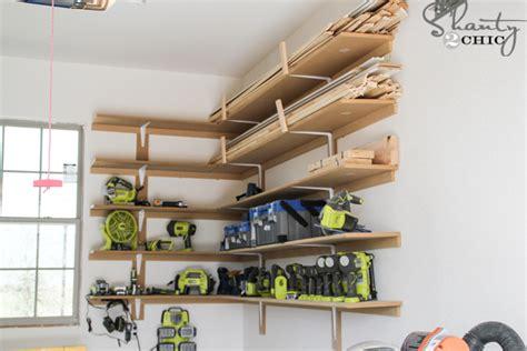 Easy Cheap Garage Storage Ideas Easy Diy Garage Shelves Bigdiyideas