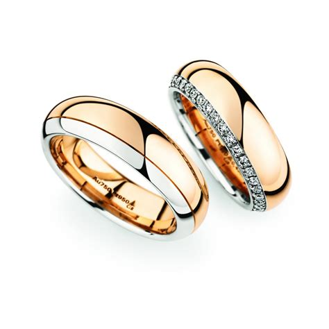 gold platinum wedding ring pair christian bauer