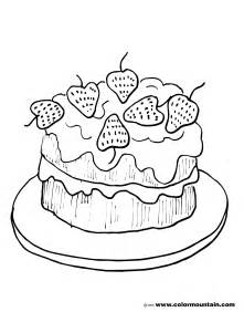 Strawberry Cake Coloring Pages strawberry cake coloring picture strawberry coloring