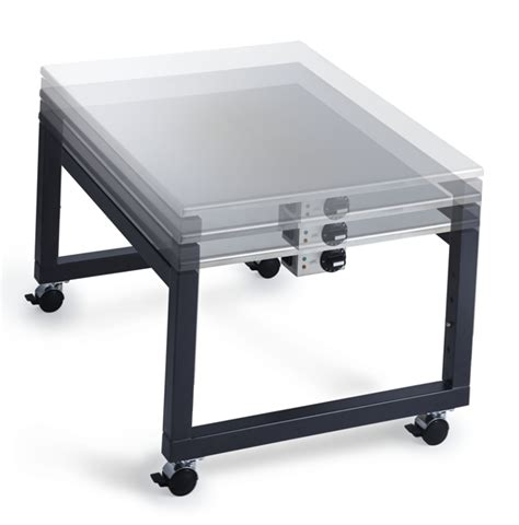 teppanyaki grill table on wheels electric pit - Adjustable Pit Table