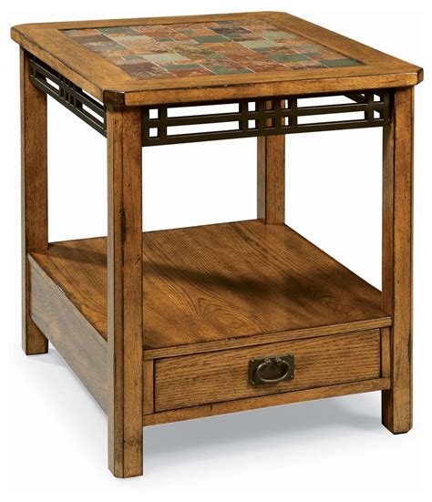 Oak End Tables End Tables Designs American Craftsman Oak Tile Top End Tables With Slate By Peters Revington