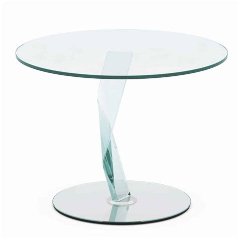 Glass Side Table Bakkarat Glass Side Table By Tonelli Klarity Glass Furniture