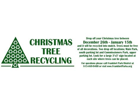 christmas tree recycling program christmas tree recycling