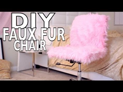pink furry desk chair diy faux fur desk chair youtube