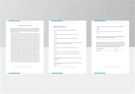 site survey template site survey template in word docs apple pages