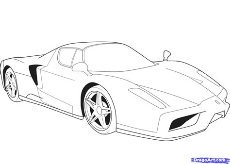 how to draw a ferrari step by step cars draw cars