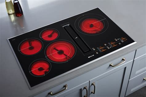 36 electric cooktops jed4536gb jenn air 36 quot electric downdraft cooktop w