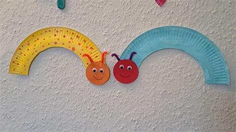 Basteln Mit Papptellern Weihnachten by Raupen Aus Papptellern Basteln Mit Kindern Der