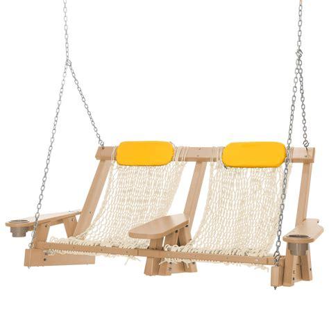 double hammock swing cedar durawood deluxe double rope swing